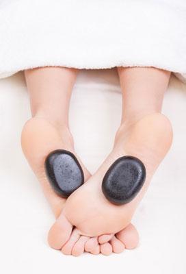 hot stone reflexology feet